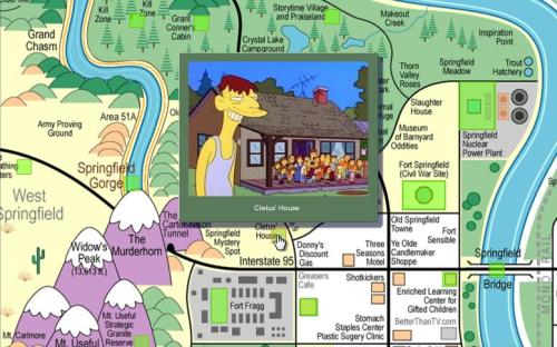 Interactive Map of Springfield   Bits on the Side on
